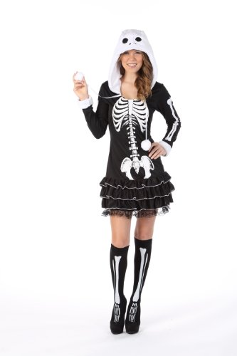 HGM Costume Women's Sassy Skeleton