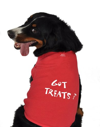 Doggie Tank Top, Got Treats, Red, Medium