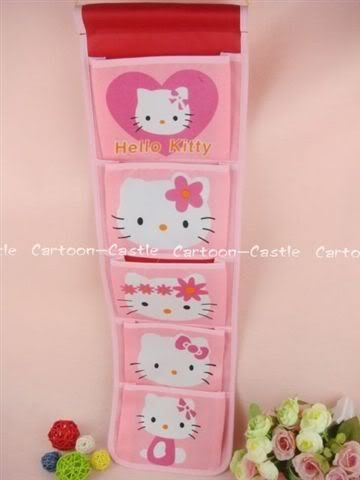 Hello Kitty Five Pockets Hanging Storage Bag Pink