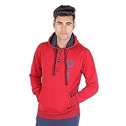 Bongio Men's Maroon Hooded Full Sleeve Stylish Sweatshirt_RMW5A13013A (XX-Large)