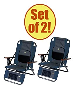 Set of 2 - GCI WILDERNESS Backpack Recliner by GCI Outdoors
