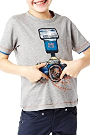 Autograph Cotton Rich Camera T-Shirt [T88-2704A-S]