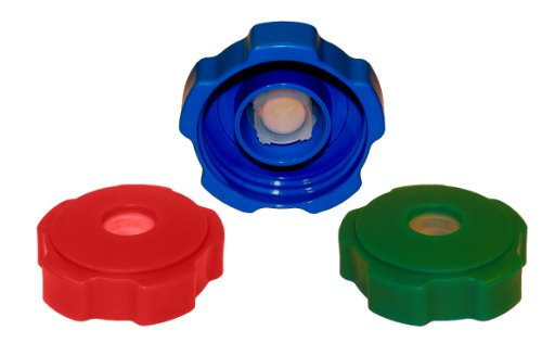 Spill Spoiler Cap, Red/Green/Royal Blue, 3-Count
