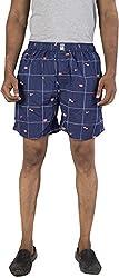 Urbantouch Men's Relaxed Boxer Shorts (Csmyx-51002, Blue, 30)