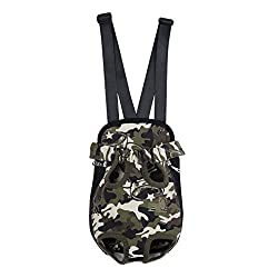 Imported Nylon Pet Puppy Dog Cat Carrier Backpack Front Tote Carrier Net Bag Camo XL