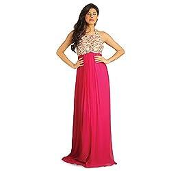 Idiotheory Women's Pink Sleeveless Dress( ITWCCWMG07_XL )
