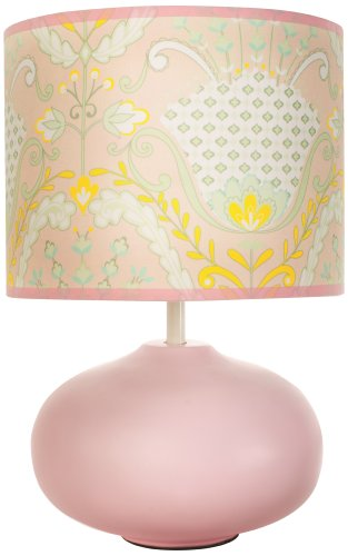 Dena Lily Lamp Base and Shade, Pink/Green (Discontinued by Manufacturer)
