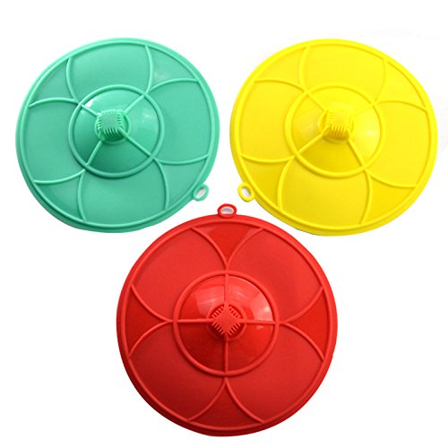 Generic Set Of 2 New Useful Kitchen Pot Silicone Cover Lid