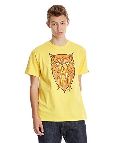 Dephect Camiseta Manga Corta Night Owls Amarillo