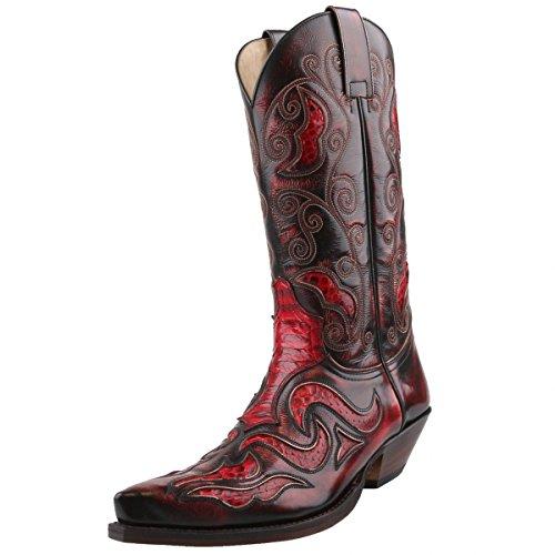 Sendra Boots, Stivali uomo Rosso Rot/Schwarz, Rosso (Rot/Schwarz), 47