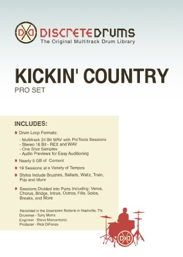 Sonoma Wire Works Ddkcpro Discrete Drums Kickin' Country Pro Set