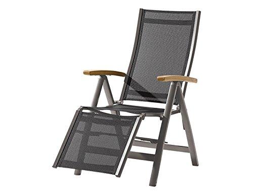 Sieger 989/G-G FS Relaxsessel Toledo klappbar 110 x 63 x 109 cm, grau / teak online kaufen