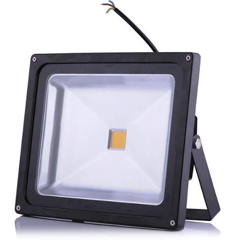 10W 20W 30W 50W 80W 100W Outdoor Cool White Landscape Guarding Waterproof Floodlight Spotlight Indoor Soft Warm White Decoration Led Light Color Changed Floodlight Induction Switch Automatically Floodlight (Warm White 50W, Normal Floodlight)