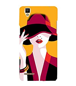 Beautiful Woman 3D Hard Polycarbonate Designer Back Case Cover for Oppo F1