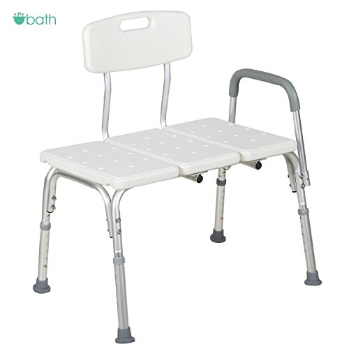 Medical Shower Chair 10 Height Adjustable Bath Tub Bench Stool Seat Back and Arm (Traditional Wingback Side Chair compare prices)