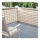 TAN & WHITE STRIPED PRIVACY SCREEN FOR BALCONY, DECK, OR PATIO - 184