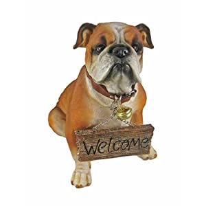 Cute Bulldog Un-Welcome Statue Dog