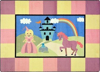 "Joy Carpets Kid Essentials Active Play & Juvenile Lil' Princess Rug, Multicolored, 7'8"" x 10'9"""