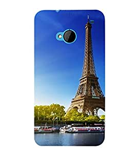 printtech Paris Tower Monument Back Case Cover for HTC One M7