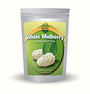 Pure White Mulberry Tea - As seen on TV - Sugar Controller - Helps Fights Cholesterol, Boosts Immune System and Supports Weight Loss - 100 grams - 100 Cups of Tea