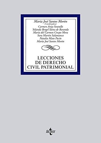 Lecciones De Derecho Civil Patrimonial (Derecho - Biblioteca Universitaria De Editorial Tecnos)