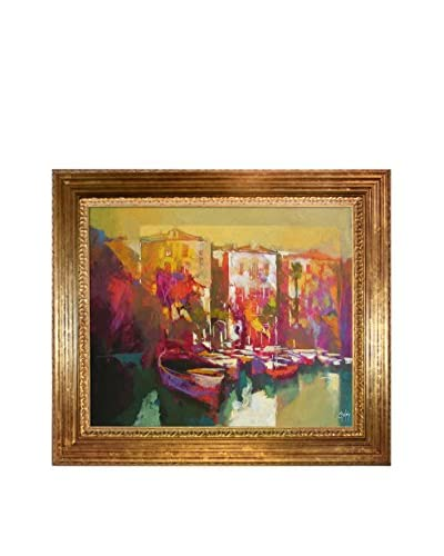"Alex Bertaina ""Mergozzo"" Framed Canvas Print"