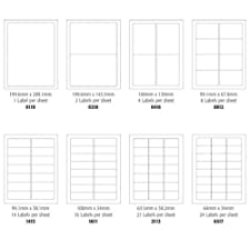 500 feuilles d'étiquettes A4 d'étiquettes autocollantes 18 étiquettes Par feuille (63,5 mm x 46,6 mm Jet d'encre/Laser/Copieur -