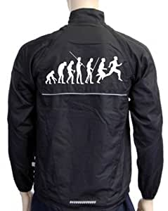 Laufjacke Evolution Running Schwarz DS, Damen, GR.XXL
