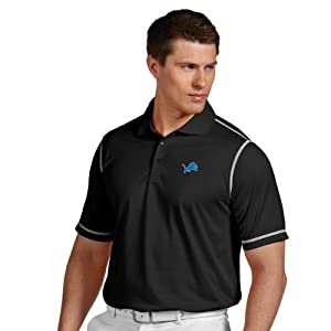 NFL Detroit Lions Mens Icon Desert Dry Polo by Antigua