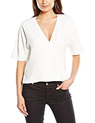French Connection Women's Plain Tops (72DNO_Summer White_12)