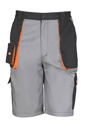 result-workguard-lite-mens-work-shorts-2-colours-grey-black-orange-2xl