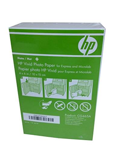 HP 4×6 Matte Vivid Photo Paper 900 Sheets CG465A Borderless