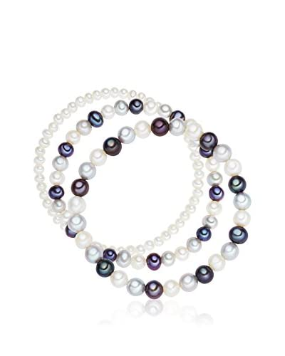 Nova Pearls Copenhagen Pulsera  Plateado / Negro