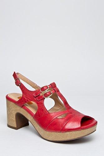 Miz Mooz Celine Mid Heel Sandal - Red