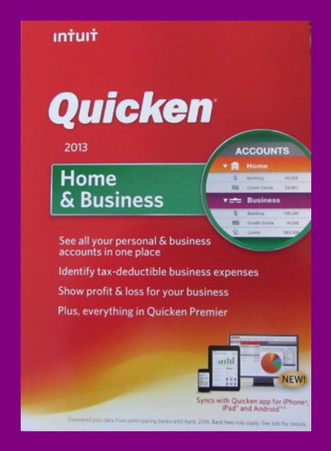 Intuit Quicken Home & Business 2013 Software