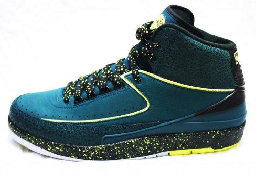 new product 2498b 01b9c Air Jordan 2 Retro Nightshade Volt Ice 385475 303 Size 11 5