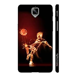 Enthopia Designer Hardshell Case Football on Fire Back Cover for One Plus 3, One Plus 3T