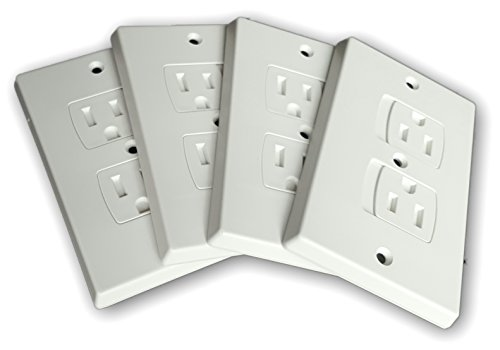 buy WONDERKID Self-Closing Electrical Outlet Covers for Baby Proofing - White - 4 Pack for sale