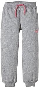 Name It Sweat Kids Pant Unbrushed R Noos - Pantalones para niños, color gris (grey melange/camillia rose), talla 3 años (98 cm)