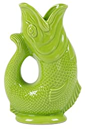 Wade Extra Large Gluggle Jug, Moss Green, 10-Inches