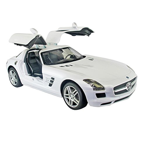 Yesurprise Modellauto Rastar Spielauto Spielzeug Modelle Fahrzeuge Ferngesteuerte Modelle Zubehör Fahrzeuge Autos Modell Christmas Birthday Gift R/C 1:14 Remote-Control Car Mercedes - Benz SLS AMG 47600 White Car Model
