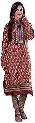 Renisha Fashion Women's Cotton Unstitched Salwar Suit (Pink)
