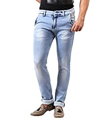 Spykar Light Blue Slim Fit Washed Jeans by Trendzy Store