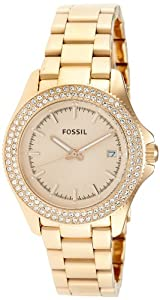 Fossil Women's Quartz Watch Retro Traveler AM4454 with Metal Strap