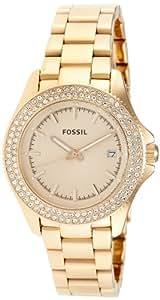 Fossil Damen-Armbanduhr Analog Quarz Edelstahl beschichtet AM4454