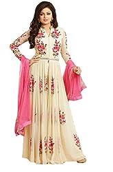 Women's Georgette Dress Material (sky yug)