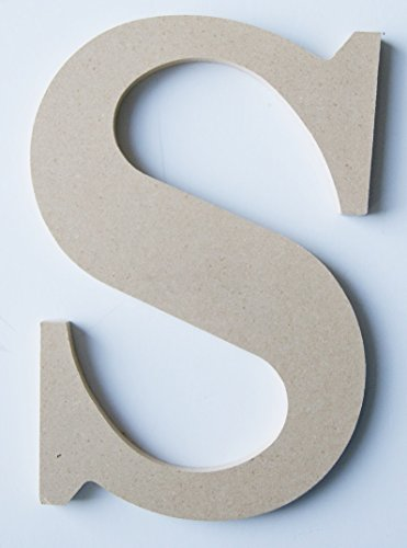 "Pressed Wood Initials Wall Decor - 8"" Classic S - 1"