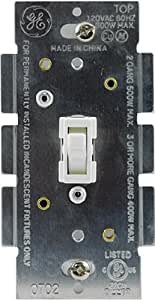 ge dimmer single pole toggle on off white 18025 wall dimmer switches a. Black Bedroom Furniture Sets. Home Design Ideas