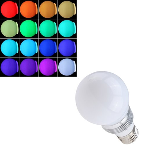 Agptek® 16 Color Led Decoration Light E27 Bulb 3W Remote Control With Flash, Strobe, Fade And Smooth Mode