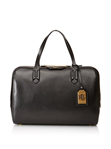 Lauren By Ralph Lauren Large Barrel Satchel (Black)